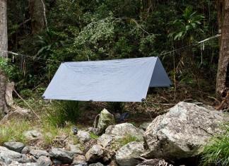 hanging tarp shelter