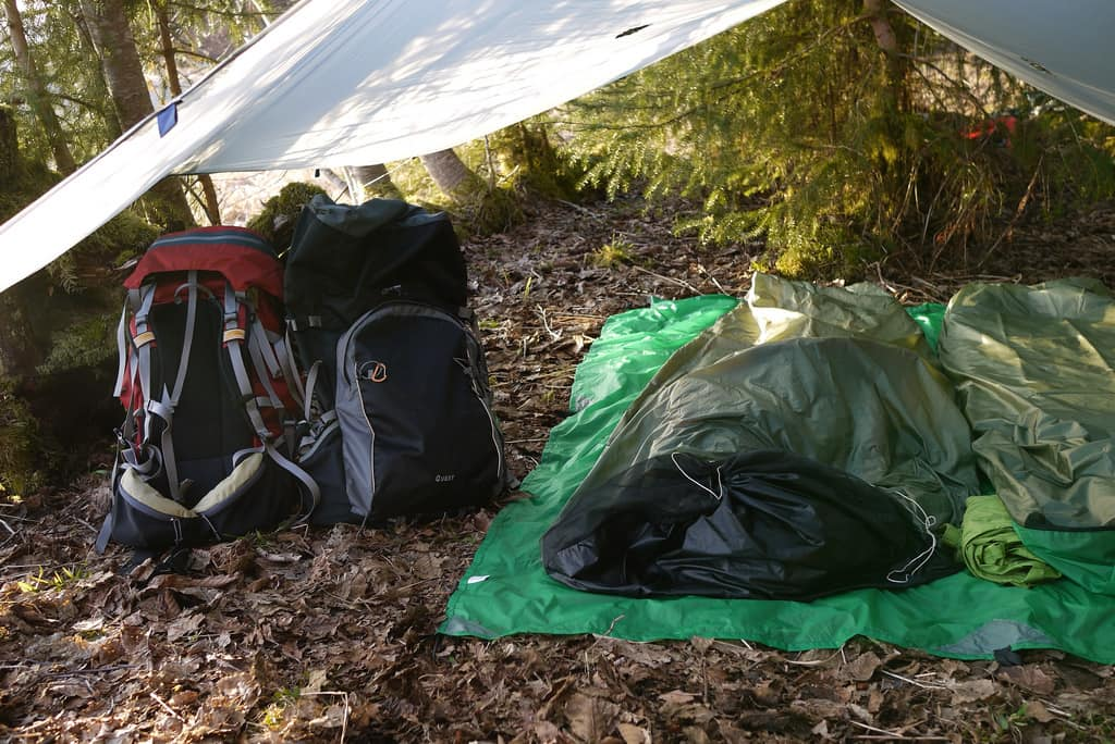 Backpacking with a Tarp & Tarp Shelter vs a Tent for Backpacking and Camping