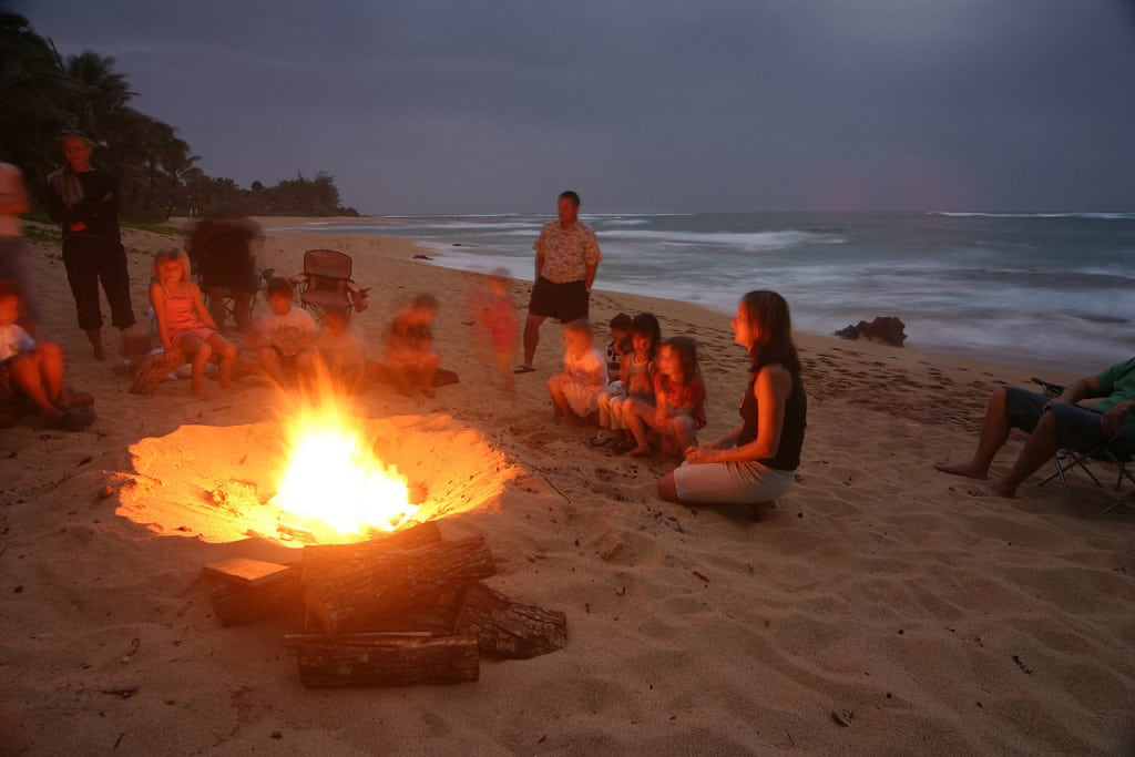 beach open fire