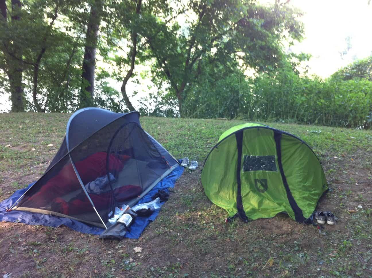 bug net and bivy sack: