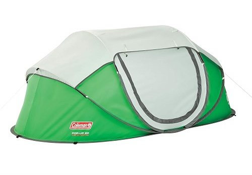 This Coleman 2 man pop-up tent is another popular option. It can be assembled in 10 seconds and is 7.6u2033 / 4.5u2033 / 2.11u2033 in size and weighs 6.41 lbs.  sc 1 st  Rolling Fox & 9 of The Best Instant (Pop Up) Camping Tents