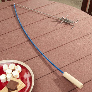 Best marshmallow roasting sticks for camping for Fire fishing pole