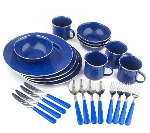Stansport 24 Piece Enamel set