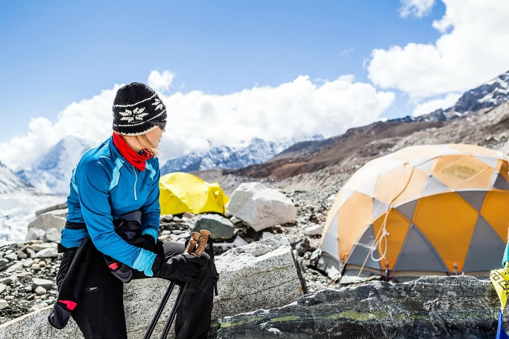 Women At Everest basecamp