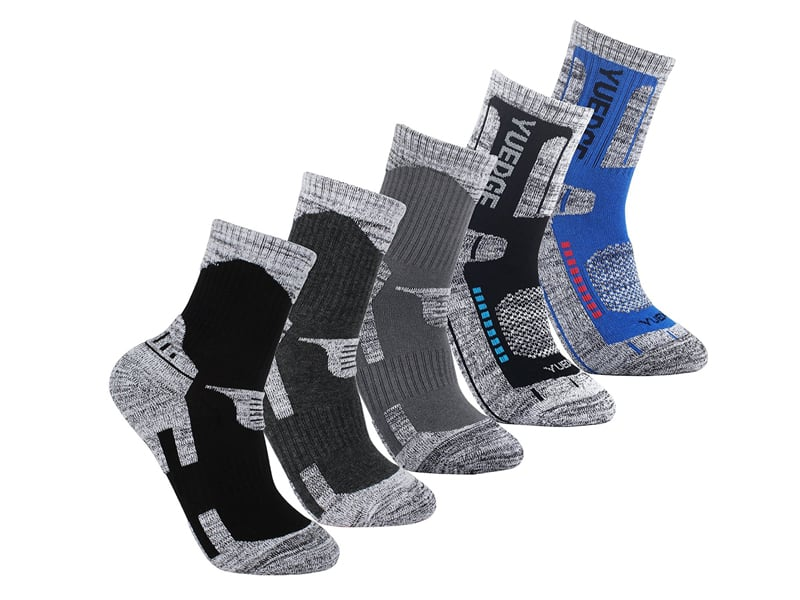 YUEDGE-Men-Hiking-Cushion-Socks