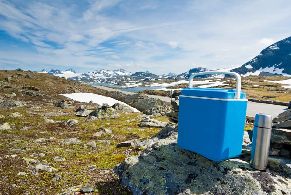 cool box on a hike
