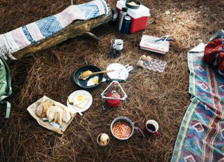 store food when camping