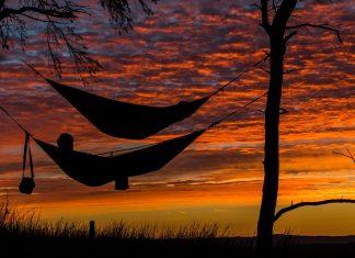 sleeping in hammock over sunset 800