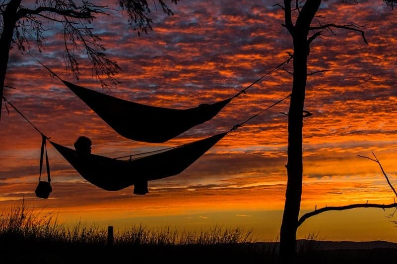 sleeping in hammock over sunset 800
