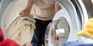 washing in washing machine