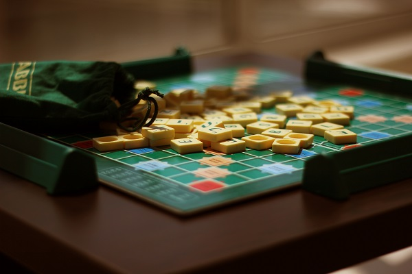 Scrabble game to play when its raining